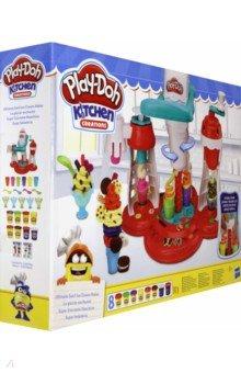 Купить ПЛЭЙ-ДО Набор игровой Мир Мороженого (E1935EU6), Hasbro, Наборы для лепки с игровыми элементами