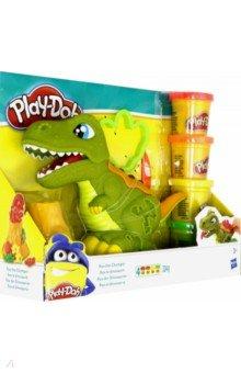 Купить ПЛЭЙ-ДО Набор игровой Могучий Динозавр (E1952EU4), Hasbro, Наборы для лепки с игровыми элементами