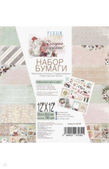 Купить Набор бумаги Сладкие праздники (30х30 см, 6 листов) (FD1007530), Fleur Design, Скрапбук