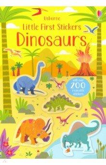 Купить Little First Stickers: Dinosaurs, Usborne, Книги для детского досуга на английском языке