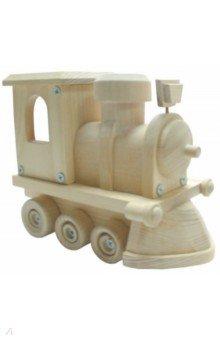 Купить Деревянная игрушка Локомотив (SW001), ВГА, Сборные 3D модели из дерева неокрашенные макси