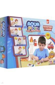 Купить Набор для творчества Aqua Pixels Пожарная станция (480 деталей) (Т13071), 1TOY, Аппликации