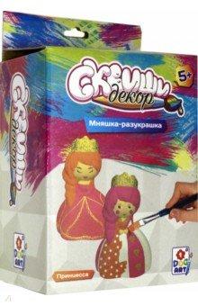Купить Набор для детского творчества Сквиши декор. Принцесса (Т15689), 1TOY, Раскрашиваем и декорируем объемные фигуры