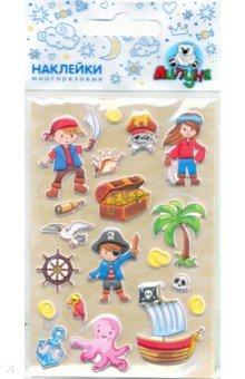 Купить Зефирные наклейки Пираты 2 (MMS065), Липуня, Наклейки детские