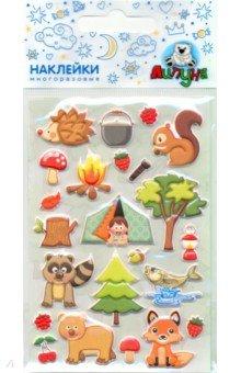 Купить Зефирные наклейки Лес (MMS071), Липуня, Наклейки детские