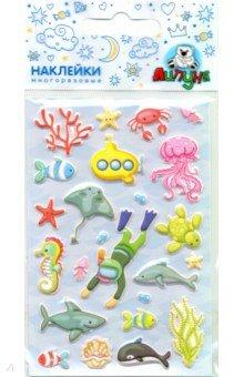 Купить Зефирные наклейки Море (MMS073), Липуня, Наклейки детские