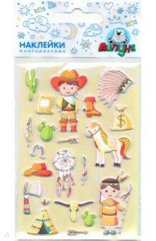 Купить Зефирные наклейки Ковбои (MMS075), Липуня, Наклейки детские