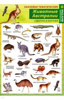 Купить Животные Австралии. Наклейки тематические, РУЗ Ко, Наклейки детские