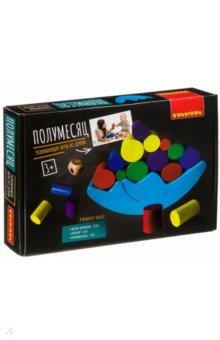 Купить Игра-баланс развивающая Полумесяц (ВВ4181), Bondibon, Строим башню