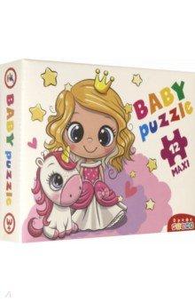 Купить Baby Puzzle. Принцесса и единорог (3847), Дрофа Медиа, Пазлы (Maxi)