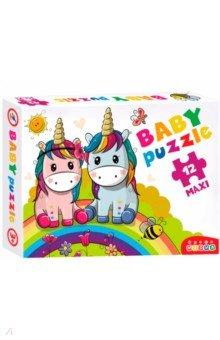 Купить Baby Puzzle. Радужные единороги (3848), Дрофа Медиа, Пазлы (Maxi)