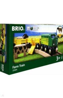 Купить Игровой набор Грузовой поезд с животными , 5 элементов (33404), BRIO, Железные дороги