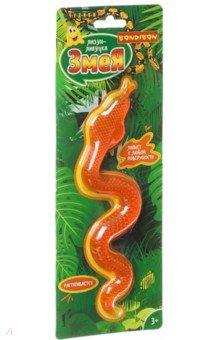 Купить Игрушка Чудики. Лизун-липучка «Змея» оранжевый (ВВ4288), Bondibon, Игрушка-антистресс