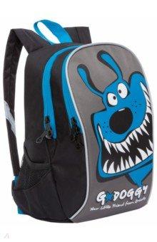 Купить Рюкзак детский (черный - синий) (RK-079-3), Grizzly, Ранцы и рюкзаки для начальной школы