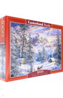 Купить Puzzle-1000. Зимой в горах (C-104680), Castorland, Пазлы (1000 элементов)