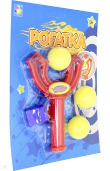 Игрушка-рогатка с 3 шариками