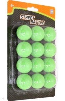 Мягкие шарики 3,4 см., для игрового оружия (12 штук), блистер