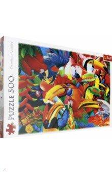 Купить Trefl. Puzzle-500 Цветные птицы (37328), Пазлы (400-600 элементов)