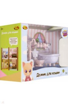 Купить Домик для кошки малый. Ванная комната (PT-01310), ABtoys, Аксессуары для кукол