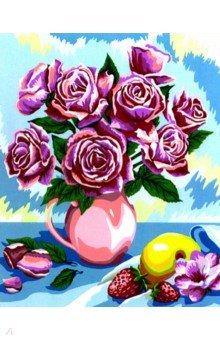 Купить Рисование по номерам Розы , 40х50 см (B068), Русская живопись, Создаем и раскрашиваем картину