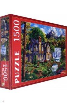 Купить Puzzle-1500 Домик у большого водопада (ФП1500-0682), Рыжий Кот, Пазлы (1500 элементов)