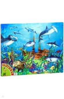 Купить Пазл (65 деталей) «Подводный мир» (ВВ4664), Bondibon, Пазлы (54-90 элементов)