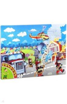 Купить Пазл (35 деталей) «Пожарная служба» (ВВ4670), Bondibon, Пазлы (12-50 элементов)