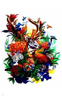 Купить Картина для раскрашивания по номерам Олень в цветах , 40х50 см (M-11422), MAZARI, Создаем и раскрашиваем картину