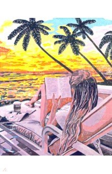 Купить Рисование по по дереву Релакс (40х50 см) (FLA043), Русская живопись, Создаем и раскрашиваем картину