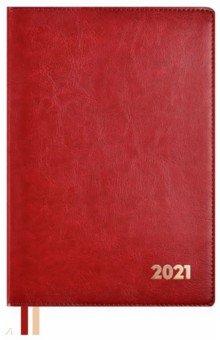 """Еженедельник датированный на 2021 год """"Сариф, красный"""" (80 листов, А5+, линия) (52336) ()"""
