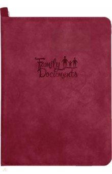 Папка-органайзер для семейных документов (А4, кожзам, красный) (52910)