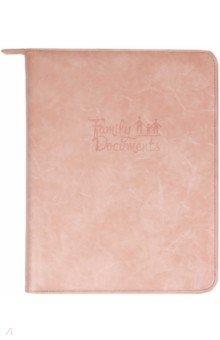 Папка-органайзер для семейных документов (А4, кожзам, розовый) (52912)
