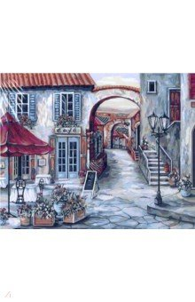 Купить Рисование по дереву 40х50 Итальянское кафе (FLA038), Русская живопись, Создаем и раскрашиваем картину