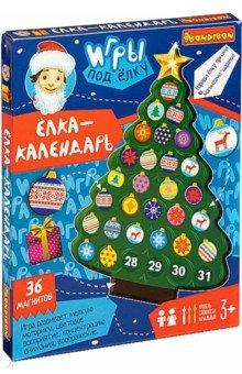 Купить Развивающие игры под елку Ёлка-календарь (36 магнитов) (ВВ4622), Bondibon, Игры на магнитах