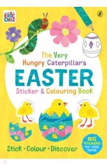 Купить The Very Hungry Caterpillar's Easter Sticker and Colouring Book, Puffin, Книги для детского досуга на английском языке