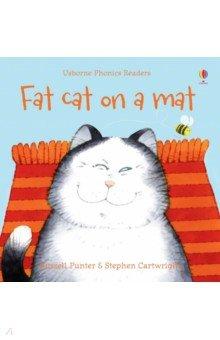 Купить Fat Cat on a Mat, Usborne, Художественная литература для детей на англ.яз.