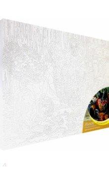 Купить Холст 30х40 см ЩЕНКИ (Арт. Х-0411), Рыжий Кот, Создаем и раскрашиваем картину