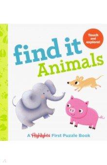 Купить Find It. Animals, RH USA, Первые книги малыша на английском языке