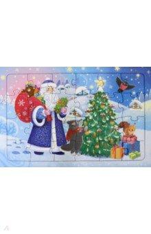 Купить Пазл листовой. Дед Мороз. 24 детали, Геодом, Пазлы (12-50 элементов)