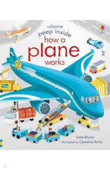 Купить Peep Inside. How a Plane Works, Usborne, Первые книги малыша на английском языке