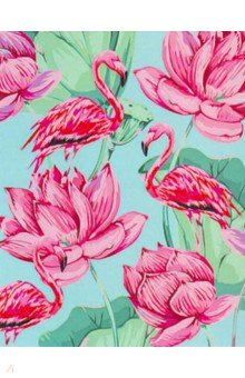 Купить Холст с красками 30х40 Фламинго и цветы (ХК-5845), Рыжий Кот, Создаем и раскрашиваем картину