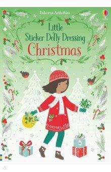 Купить Little Sticker Dolly Dressing. Christmas, Usborne, Книги для детского досуга на английском языке