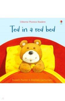 Купить Ted in a red bed, Usborne, Первые книги малыша на английском языке
