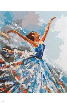 Купить Рисование по номерам Балерина , 40х50 см. (J001), Русская живопись, Создаем и раскрашиваем картину