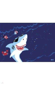 """Плёнка цветная для уроков труда """"Акулы"""", 500х700 мм (51151)"""