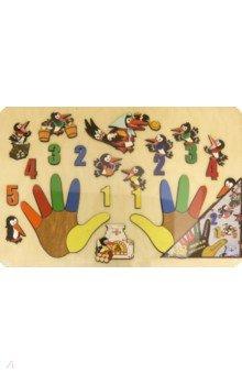 Купить Развивающая доска Сорока-белобока. Ладошки , 33 детали (7916), Нескучные игры, Кукольный театр