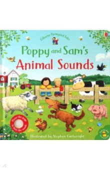Купить Farmyard Tales Poppy and Sam's Animal Sounds Board, Usborne, Первые книги малыша на английском языке