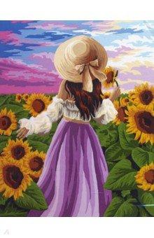 Рисование по номерам 40*50 В солнечных цветах (J043)