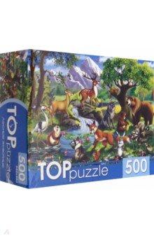 Купить TOPpuzzle-500 Лесные животные (ХТП500-4129), Рыжий Кот, Пазлы (400-600 элементов)