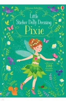 Купить Little Sticker Dolly Dressing. Pixie, Usborne, Книги для детского досуга на английском языке